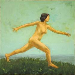 Naked Striding Woman (study)