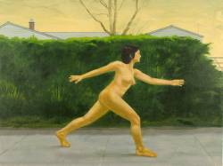 Naked Striding Woman