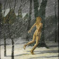 Snow/Night/Naked Woman